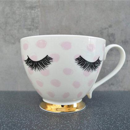 Our famous eyelash footed mug!