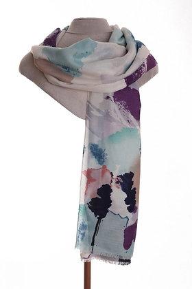 Watercolour Scarf Lilac