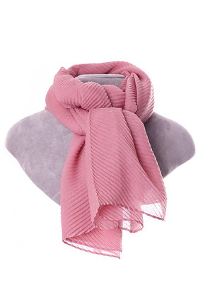 Soft Pink Pleated Scarf