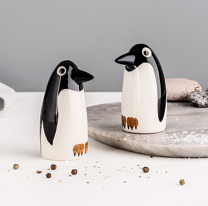 Hannah Turner - Handmade Ceramic Penguin Salt And Pepper Shakers