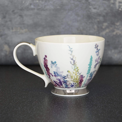 CANDLELIGHT Summer Meadow Mug With Silver Electroplated Foot