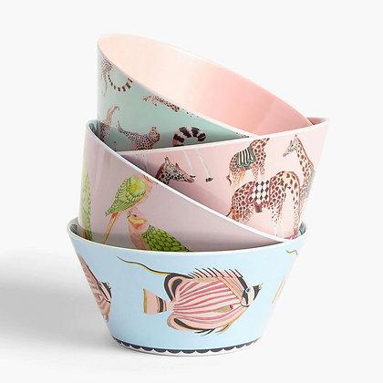 YVONNE ELLEN Safari Picnic Bowls, Set of 4