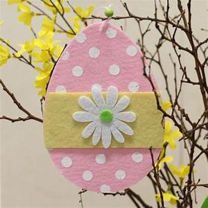 Easter Egg Felt Decoration in Pink