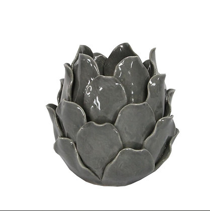 Ceramic tealight holder artichoke