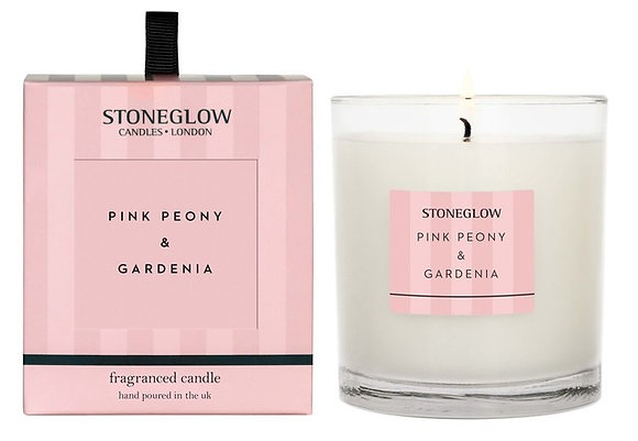 STONEGLOW Pink Peony & Gardenia Candle