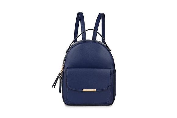 BLUE Pocket Front Small Back Pack