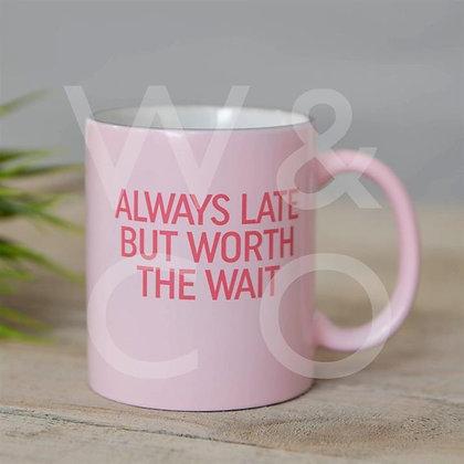 Fun stoneware mug.