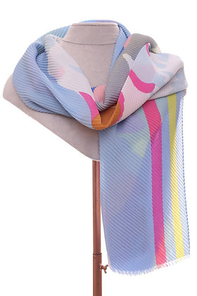 Soft Pastels Ribbed Scarf