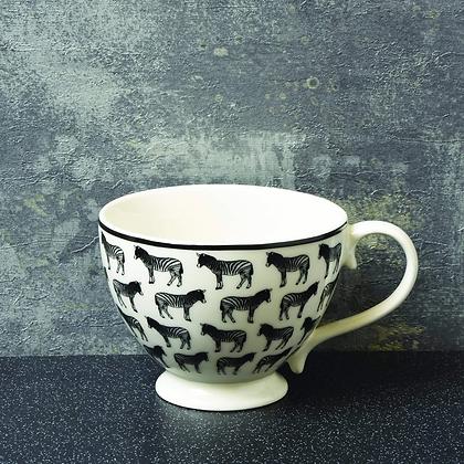 CANDLELIGHT Footed Mug With Zebra Print