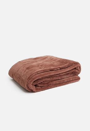 Super Cosy Throw - Rose Pink/Rust