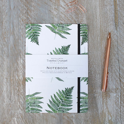 Woodland Fern Pure A5 Lined Notebook