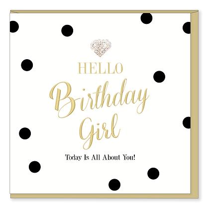 HEARTS DESIGNS Hello Birthday Girl