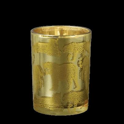 Gold leopard print candle pot