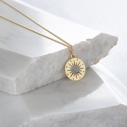 Lime Tree Star Charm Necklace Gold Vermeil