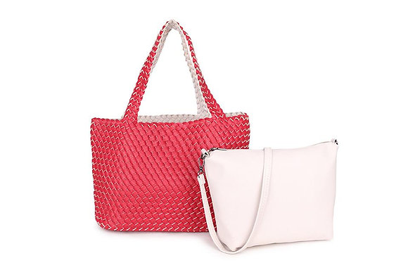 RED/OFF-WHITE 3 in 1 Stylish Shopper
