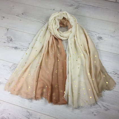 Scarf with Gold Circles