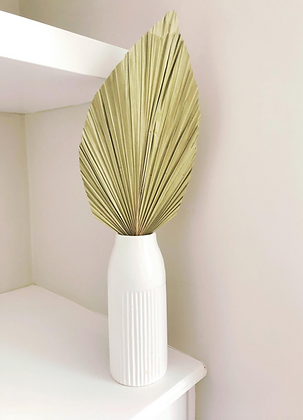 XL dried palm leaf single
