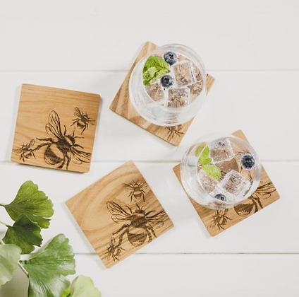 Bee Etched Coasters