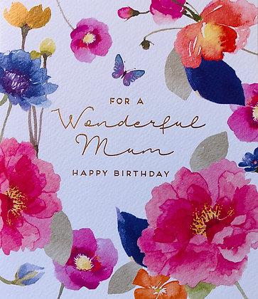 For A Wonderful Mum Happy Birthday