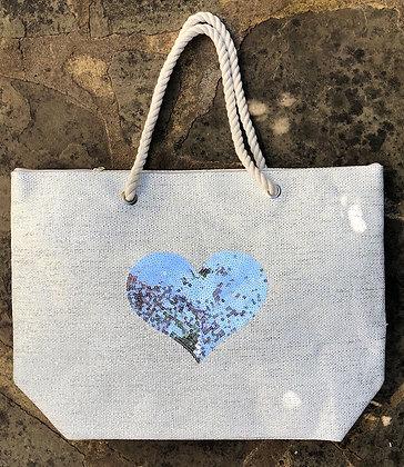 STRAITS Heart Beach Bag - Silver