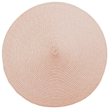 Circular ribbed placemat Pink