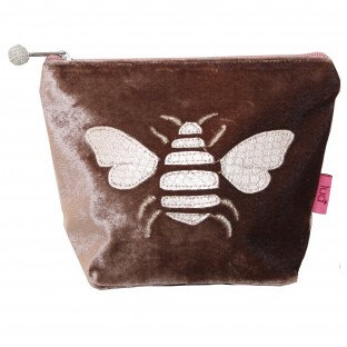 Gold Bee Small Cosmetic Purse - BURGUNDY