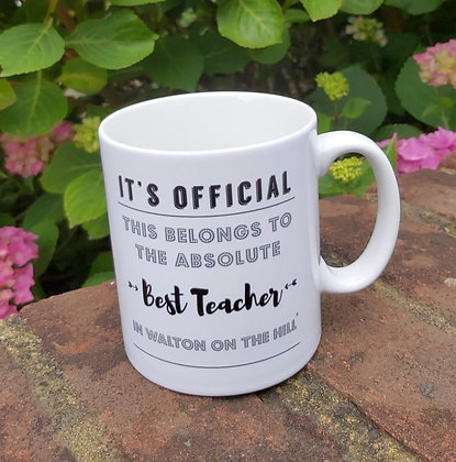 COULSON MACLEOD Best Teacher In Walton On The Hill Mug