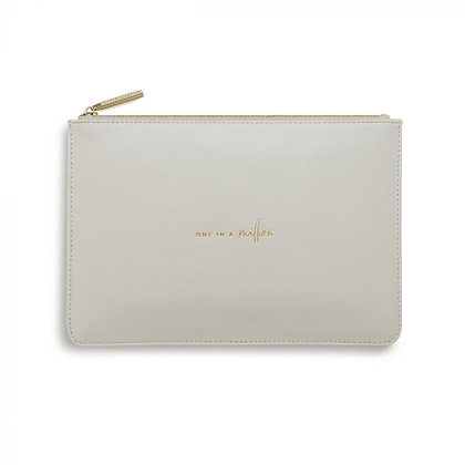 KATIE LOXTON PERFECT POUCH ONE IN A MILLION in PALE GREY