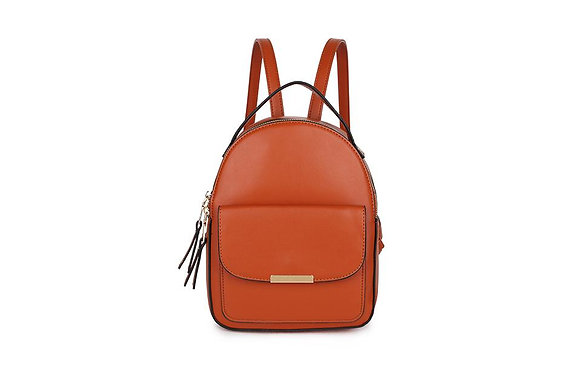 BROWN Pocket Front Small Back Pack