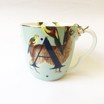 YVONNE ELLEN Initial Mug A-N