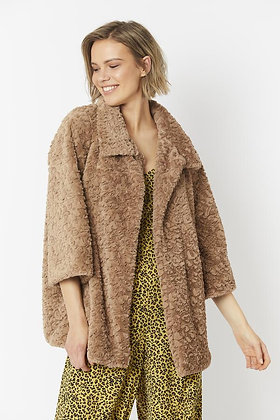 Jayley Faux Fur Coat - Beige