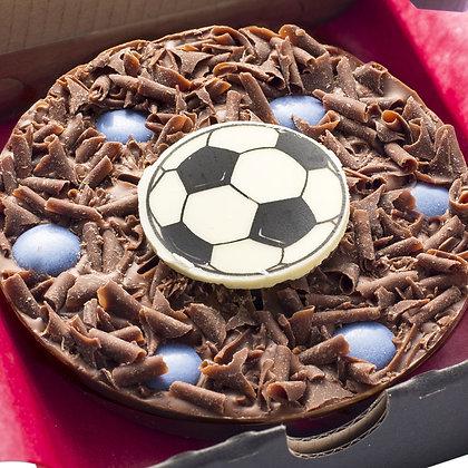 THE GOURMET Football CHocolate Pizza-Blue