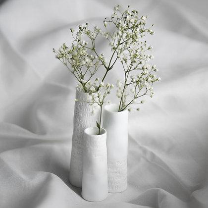 Rader Set 3 embossed mini vases