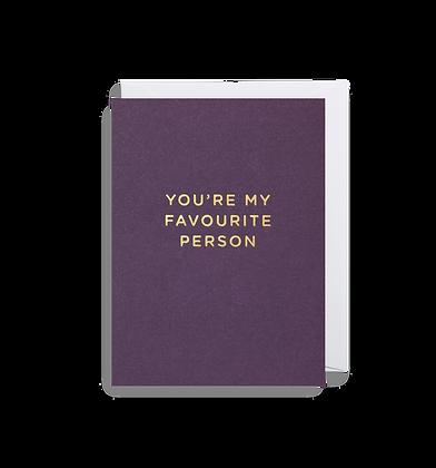 LAGOM Your My Favourite Person Mini Card