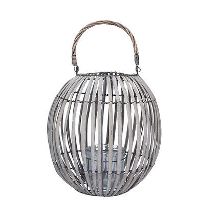 Wicker tealight lantern small