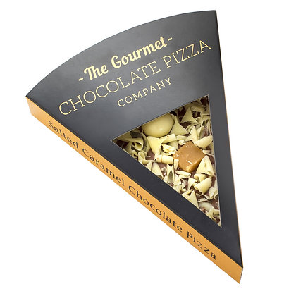 THE GOURMET Salted Caramel Chocolate Pizza Slice
