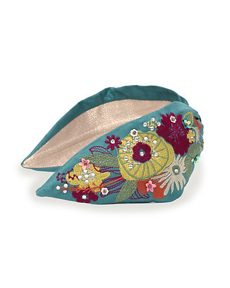 POWDER Floral Headband In Turquoise