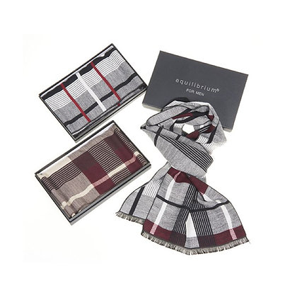 Men's Abstract Lines Scarf