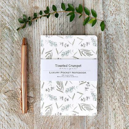 Eucalyptus Pure A6 Lined Pocket Notebook