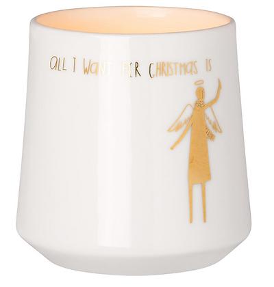 All I want for Christmas tea light holder