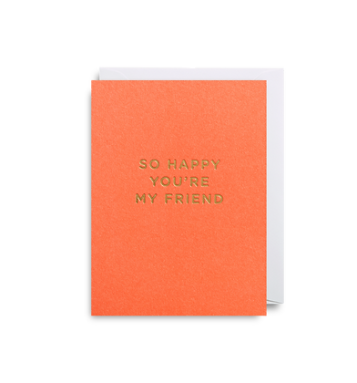 LAGOM So Happy Your My Friend Mini Card