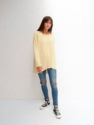 CHALK Mustard Stripe Robyn Top