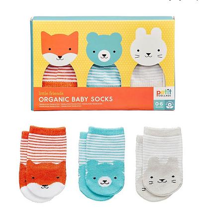 Organic Baby socks (set of 3)