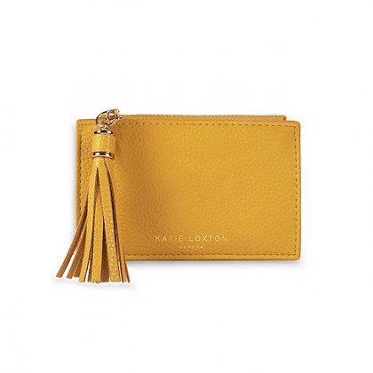 KATIE LOXTON SOPHIA TASSEL COIN/CARD PURSE OCHRE