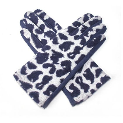 Animal Print Gloves- GREY