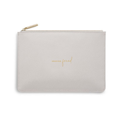 KATIE LOXTON PERFECT POUCH  AMAZING FRIEND in PALE GREY