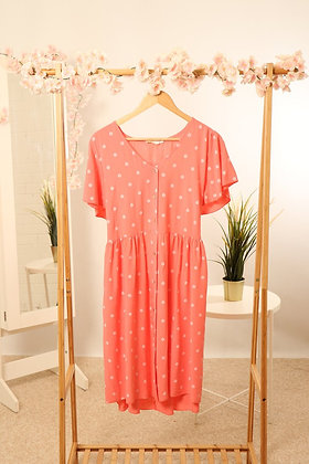 Coral Daisy Spot Tunic Dress S/M
