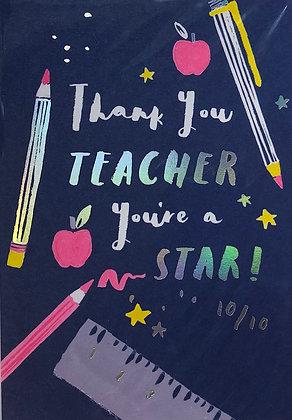 HOTCHPOTCH Thank You Teacher You're A Star
