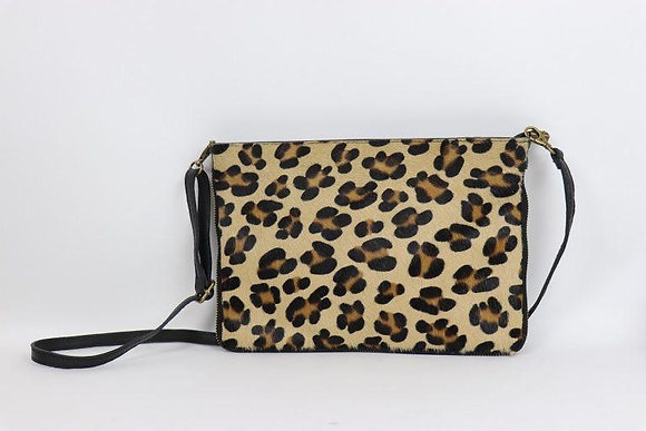 Soft Leather Clutch - LEOPARD PRINT SMALL