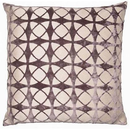 Cut velvet spiral design cushion feather filled
